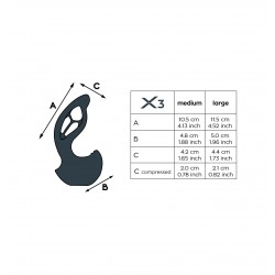 Stymulator prostaty Joy Division XPANDER X3 Medium (4)