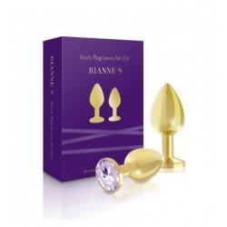 Korki analne zestaw Rianne S - Booty Plug Luxury Set 2x Gold (8)