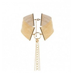 Naszyjnik-obroża z łańcuchem Bijoux Indiscrets Magnifique (złoty)