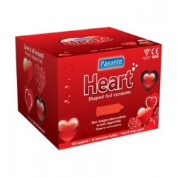 Prezerwatywy Pasante Heart Shaped Foil Condoms (100 szt.)