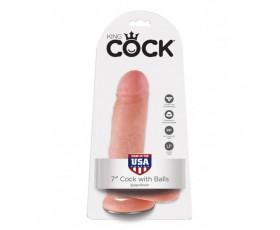 "Dildo King Cock 7"" Cock with Balls Flesh"