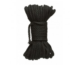 Kink Hogtied Bind & Tie 6mm Black Hemp Bondage Rope 50 Feet