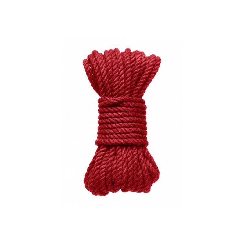 Kink Hogtied Bind & Tie 6mm Red Hemp Bondage Rope 30 Feet