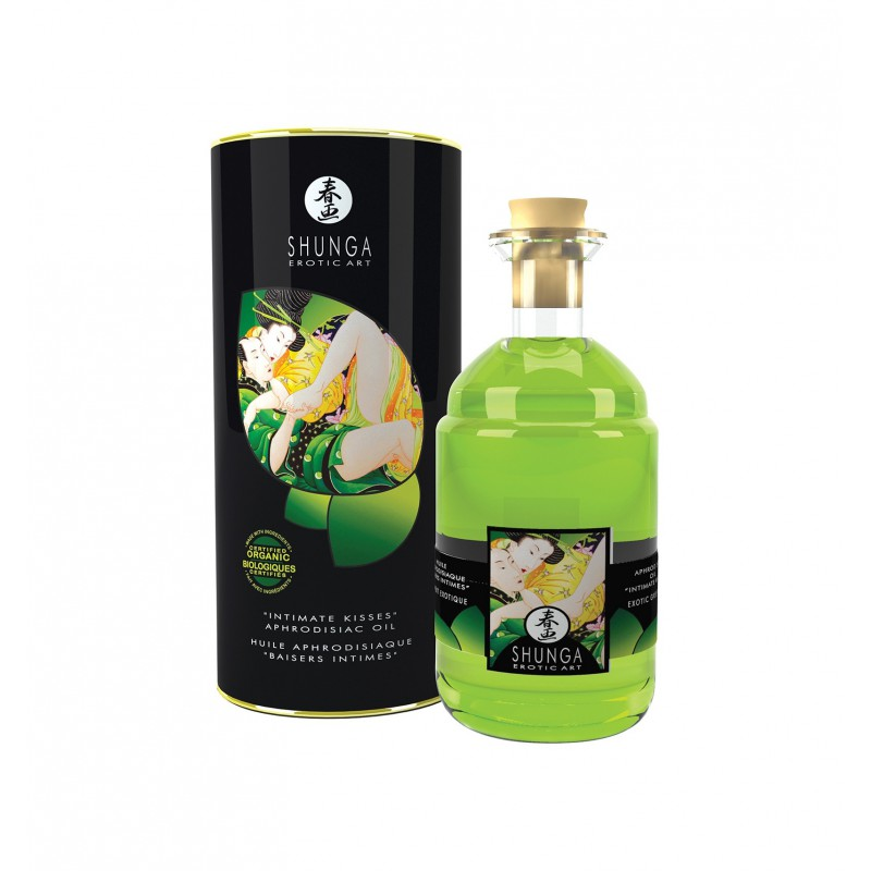 Shunga - Exotic Green Tea Organic Warming Oil 100 ml