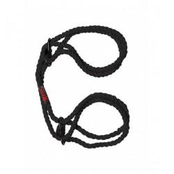 Kink Hogtied Bind & Tie 6mm Hemp Wrist or Ankle Cuffs Black