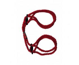 Kink Hogtied Bind & Tie 6mm Hemp Wrist or Ankle Cuffs Red