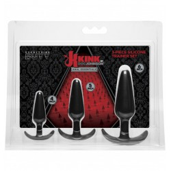 Korki analne Kink Anal Essentials 3-Piece Silicone Trainer Set