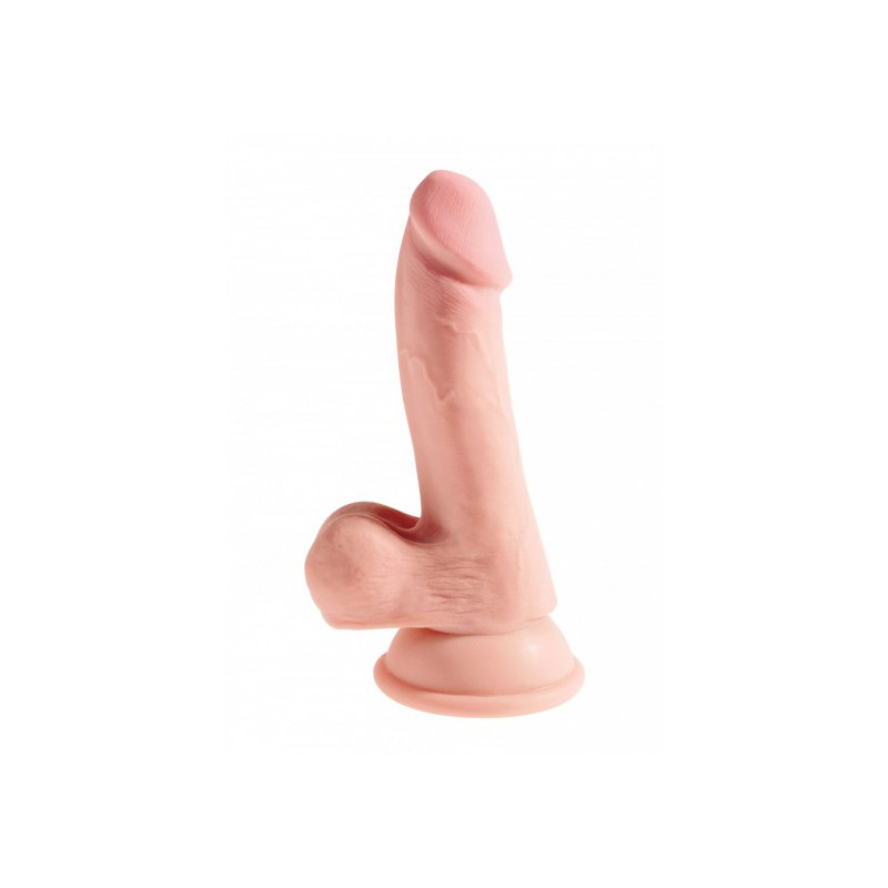 "Dildo King Cock Plus 6,5"" Triple Density Cock with Balls"