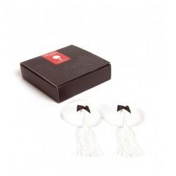 Nakładka na sutki Bijoux Indiscrets - Burlesque Pasties, białe