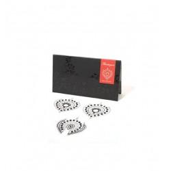 Biżuteria na sutki i łono Bijoux Indiscrets - Flamboyant, srebrno-czarne