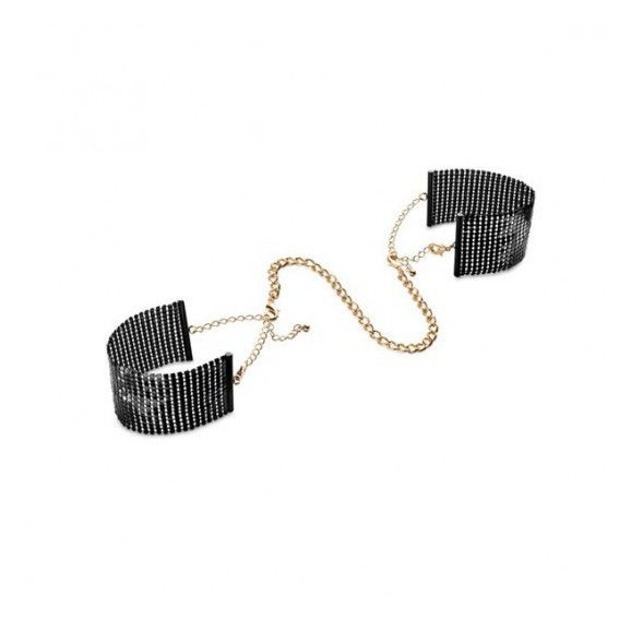 Kajdanki Bijoux Indiscrets - Désir Métallique Handcuffs (czarne)