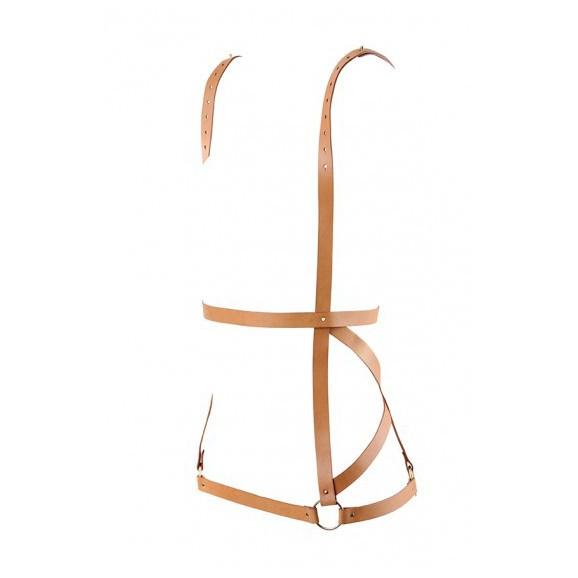 Uprząż Bijoux Indiscrets - MAZE Arrow Dress Brown