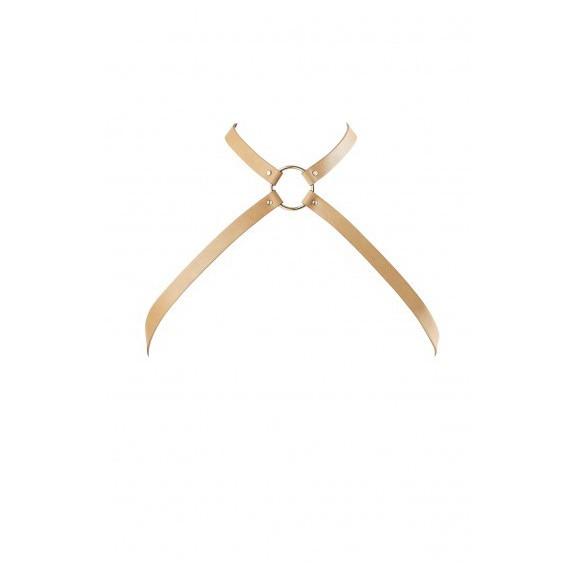 Uprząż Bijoux Indiscrets - MAZE Chest Thin Harness Brown
