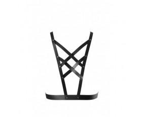 Uprząż na klatkę piersiową Bijoux Indiscrets - MAZE Net Cleavage Harness Black
