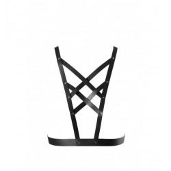 Uprząż na klatkę piersiową Bijoux Indiscrets - MAZE Net Cleavage Harness Black (2)