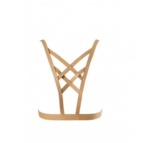 Uprząż na klatkę piersiową Bijoux Indiscrets - MAZE Net Cleavage harness Brown