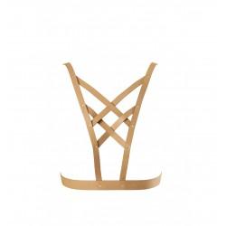 Uprząż na klatkę piersiową Bijoux Indiscrets - MAZE Net Cleavage harness Brown (3)