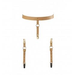 Pas do pończoch Bijoux Indiscrets - MAZE Suspender Belt for Underwear & Stockings Brown (3)