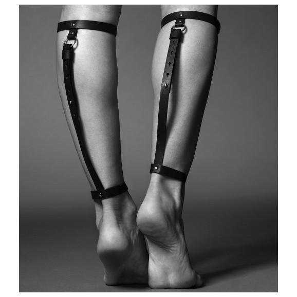 Uprzęże na łydki Bijoux Indiscrets - MAZE Back Leg Garter Black