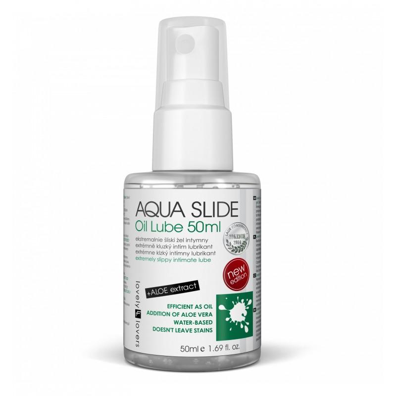 Lubrykant Lovely Lovers Aqua Slide Oil Lube 50 ml - Żel Nawilżający Na Bazie Wody