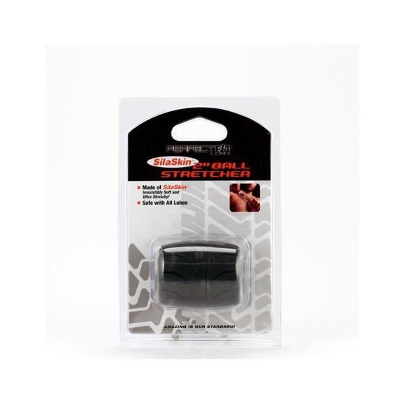 Rozciągacz jąder Perfect Fit - SilaSkin Ball Stretcher 50 mm (czarny)